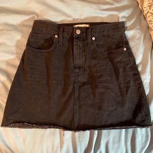 Madewell Black Denim A-line Skirt